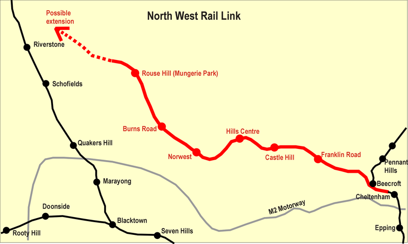 Which is the best alignment for the Northwest Rail Link? (1/6)